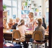 Auch für Lehrerin Cindy Steiger war es der erste Schultag in Götighofen. (Bilder: Thi My Lien Nguyen)