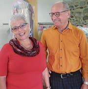 Ende Monat ist Schluss: Priska und Alois Künzle in der Textilreinigung am Bankplatz. (Bild: Stefan Hilzinger)