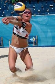 Elena Steinemann erhofft sich einen weiteren Schub für ihre Beachvolleyball-Karriere. (Bild: Adrian Knecht)