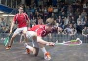 Ein gewohntes Bild an Superseries-Turnieren, in der NLA aber nie der Fall: Yannick Wilhelmi (vorne) mit seiner Maske. (Bild: PD)
