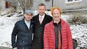 Marcel Kelemen, Dino Duelli und Pascal Démarais bilden das neue Kochtrio. (Bild: Carmen Pagitz)