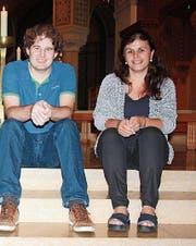 Dominik Bucher und Karin Flury. (Bild: Markus Bösch)