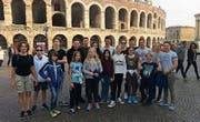 Willkommene Abwechslung zum harten Training: der SC Flös unterwegs in der schönen Stadt Verona. (Bilder: PD)