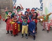 Vor zwei Jahren: Flüchtlingskinder in Mardin freuen sich über die Kostüme des Circus Balloni. (Bild: PD)