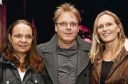 Beeindruckt: Claudine und Daniel Appert mit Denise Bossert. (Bilder: tgplus.ch/Chris marty)