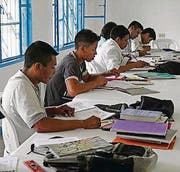 Indianer in der Ausbildung. (Bild: Urs Trummer)