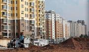 Die chinesische Planstadt Ordos. Von den Menschen verlassene Geisterstadt. (Bild: Keystone)