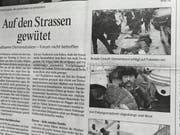 Ausschnitt der Themenseite des St.Galler Tagblatts vom 31. Januar 2000.