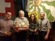 Christian Hildebrand, Robert Brunner, Angela Rutz und Kurt Geisser (von links). (Bild: PD)
