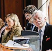 Sein Stichentscheid war gefragt: Grossratspräsident Max Arnold. (Bild: Donato Caspari)