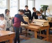 Die Schüler planten die einzelnen Arbeitsabläufe selbst. (Bild: PD)