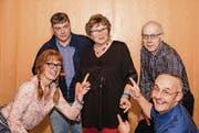 Der Vorstand mit Silvia Oberhänsli, Giuseppe Gaudio, Maya Heizmann, Rolf Ledermann und Sandro Schmid. (Bild: pd)
