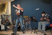 Die Living Session Band, die an der Psychiatrischen Klinik Wil entstanden ist, brachte Freude in den Tag. (Bild: Ursula Ammann)
