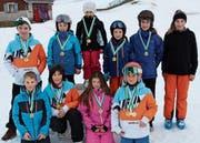 Die Kategoriensieger der Grabser Schülerskirennen. (Bild: PD)