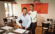 Roshan und Yasmin Rai vom «Rai Palace» bleiben vorerst in ihrem Restaurant in der Frauenfelder Vorstadt. (Bilder: Reto Martin)