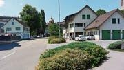 Die heutige Rorschacherstrasse zwischen Grüenau-Knoten und Thaler-/Poststrasse. (Bild: PD)