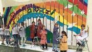 Die Schülerinnen und Schüler durften sich künstlerisch betätigen und kreativ austoben. (Bild: PD)