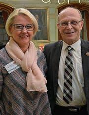 Die neue Beisitzerin Carine De Steffani mit Präsident Kurt Sieber. (Bild: Mathias Frei)