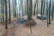 Der Platz der Waldspielgruppe Waldmäuse erhielt in den vergangenen Wochen mehrmals unerwünschten Besuch. (Bild: PD)