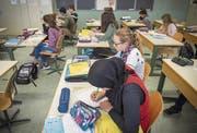 Das Tragen des Kopftuchs im Unterricht ist erlaubt. (Bild: Urs Bucher (OZ Mühlizelg, Abtwil, 28. Oktober 2016))