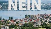 Fotorealistische Visualisierung der IG Scheitingen: So dürfe Steckborn in Zukunft nicht aussehen, fordert die Anwohnergruppe. (Bild: Pd.)
