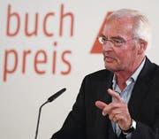Bodo Kirchhoff bei der Dankesrede für den Deutschen Buchpreis vergangene Woche. (Bild: Arne Dedert/EPA)