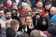 Die unterlegene liberale Präsidentschaftskandidatin Xenia Sobtschak. (Bild: Mikhail Pochuyev/Getty (Volokolamsk, 21. März 2018))