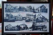 Eine alte Postkarte zeigt die Rotzenwiler Häuser. (Bild: Nana do Carmo)