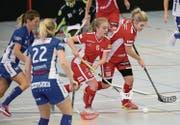 Die Red Lions (rot) zeigten gegen Dietlikon viel Einsatz. (Bild: Mario Gaccioli)