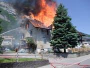 In Sennwald war am 28. Mai ein Zweifamilienhaus durch einen Brand vollständig zerstört worden. (Bild: Kantonspolizei St. Gallen)