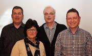 Der neue Vorstand der CVP-Ortspartei Seebachtal: Daniel Butti, Esther Hagen, Franz Weber und Patrick Siegenthaler. (Bild: PD)