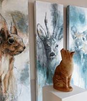 Die Künstlerin Theres Menzi zeigt ihre Tierbilder. (Bild: PD)