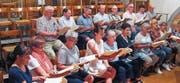 Das Ensemble während einer Probe in der Kirche St. Nikolaus in Wil. (Bild: Josef Brummer)
