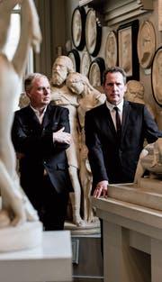 Lassen sich nicht hetzen: Die Musiker Paul Humphreys und Andy McCluskey. (Bild: Mark McNulty)