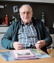 Heinz Weber schreibt seit Jahren Mundartgedichte. An der Ausstellung «Grabser Herzblut» werden einige vorgestellt. (Bild: Heini Schwendener)