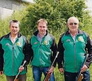 Werner Hänggi, Peter Wirz und Albert Schwager. (Bild: Werner Lenzin)