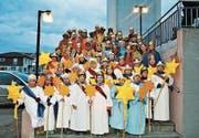 Die zahlreichen Sternsinger der Gemeinde Eschlikon. (Bild: PD)