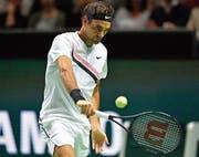 Roger Federer ist gegen Philipp Kohlschreiber fehleranfälliger als am Tag zuvor in der Startrunde gegen Ruben Bemelmans. (Bild: Henk Seppen/Freshfocus)