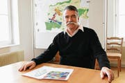 Gemeindepräsident Jürg Schumacher setzt sich für die Erhaltung der Poststelle in Märstetten ein. (Bild: Werner Lenzin)