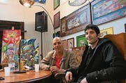 Das gemeinsame neue Atelier der Künstler Ralf Abati und Simon Frei. (Bild: Tobias Söldi)