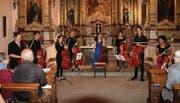 Schlussapplaus mit den Cellistinnen und Cellisten des Ateliers an der Kantonsschule Wattwil. (Bilder: Peter Küpfer)