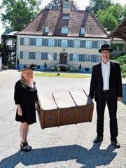 Michaela Bauer und Frédéric Bolli üben ihre Rollen ein. (Bild: Viola Stäheli)