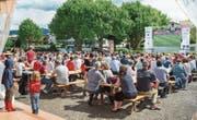 Bereits vor zwei Jahren während der Europameisterschaft schauten Fans in Horn gemeinsam Fussball. (Bild: Andrea Stalder (Juni 2016))