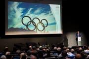 Bis zu einer Milliarde Franken würde der Bund in Form einer Defizitgarantie an die Olympischen Spiele 2026 beisteuern. (KEYSTONE/Jean-Christophe Bott/Archivbild) (Bild: JEAN-CHRISTOPHE BOTT (KEYSTONE))