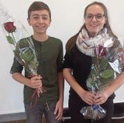 Robin Ehrler und Michelle Hänggi besetzen seit Dienstag das Schülerratspräsidium der Oberstufe Bronschhofen. (Bild: PD)