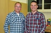 Präsident Simon Huber (rechts) und Kassier Norbert Wick informierten, wie der Dorfverein die kulturellen Raumbedürfnisse abdecken möchte.