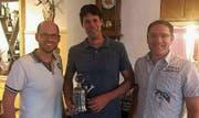 Die drei Erstplatzierten der Pistolenmeisterschaft: Michael Haas, Roger Hautle und Cornel Fürer (v. l.). (Bild: zVg)