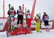 Die Gamserin Lorina Zelger gewinnt das FIS-Rennen in Saint-Luc. (Bild: PD)