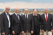 Sie halten den Verband auf Kurs: Harald Vetter, Mario Cattarozzi, Martin Lepple, Werner Neyer und Paul Minz. (Bild: PD)