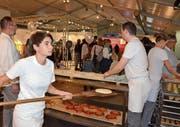 Verschiedene Bäckereien von Appenzell sorgen an einem gemeinsam betriebenen Stand für feinste Düfte. (Bilder: Roger Fuchs)